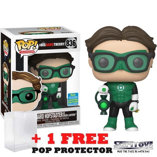 Big Bang Theory - Leonard Hofstadter as Green Lantern #836 Pop Vinyl Funko SDCC 2019 Exclusive