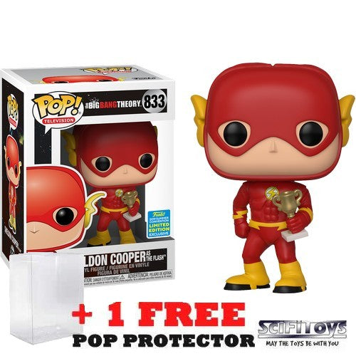 Big Bang Theory - Sheldon Cooper as The Flash #833 Pop Vinyl Funko SDCC 2019 Exclusive