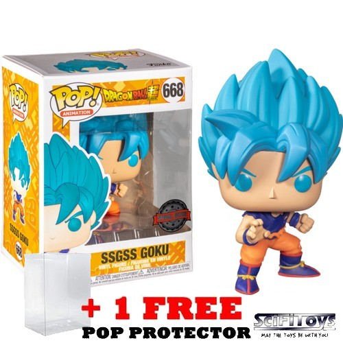 Anime : Dragon Ball Super - SSGSS Goku #668 Pop Vinyl Figure Funko Exclusive