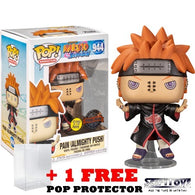 Anime Naruto : Shippuden - Pain with Shinra Tensei Glow in the Dark Pop Vinyl Figure Funko Exclusive