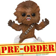 (PREORDER) Star Wars V : The Empire Strikes Back - Chewbacca Flocked at Echo Base Diorama Deluxe Pop Vinyl Funko Exclusive