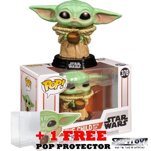 Star Wars : The Mandalorian - The Child with Cup #378 Pop Vinyl Funko