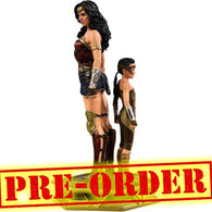 (PREORDER) 1:10 Wonder Woman 1984 - Wonder Woman & Young Diana Deluxe Art Scale Statue Iron Studios