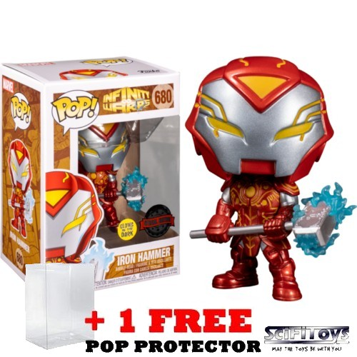 Marvel : Infintiy Warps - Iron Hammer Glow in the Dark #680 Pop Vinyl Funko Exclusive