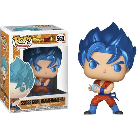 Dragon Ball Z - SSGSS Goku Kamehameha Metallic #563 Pop Vinyl Funko Exclusive