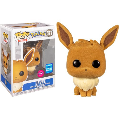 Pokemon - Eevee Flocked #577 Pop Vinyl Funko Wonder Con 2020 Exclusive