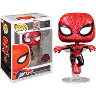 Marvel 80th Anniversary - Spider Man First Appearance Metallic #593 Pop Vinyl Funko Exclusive