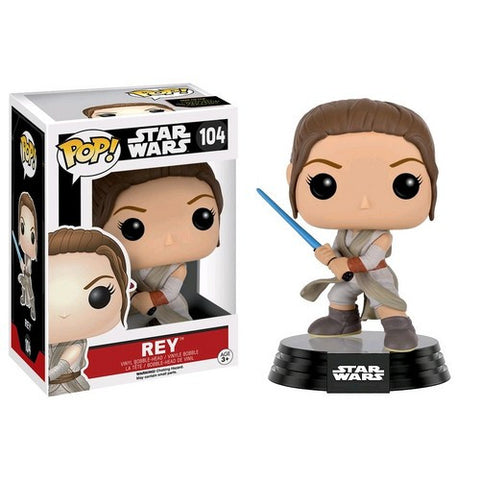 Star Wars : The Force Awakens - Rey with Lightsaber #104 Pop! Vinyl Funko