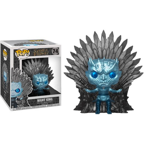 Game of Thrones - Night King on Throne Metallic Deluxe #74 Pop Vinyl Funko Exclusive