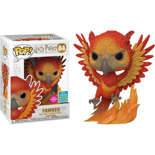 Harry Potter - Dumbledore's Fawkes Phoenix Flocked #84 Pop Vinyl Funko SDCC 2019 Exclusive