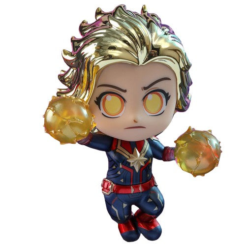 Avengers 4 : Endgame - Captain Marvel Metallic Gold COSB591 Cosbaby Hot Toys