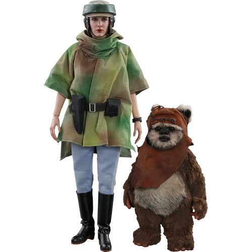 1:6 Star Wars : Return of the Jedi - Princess Leia & Wicket Figure Set MMS551 Hot Toys