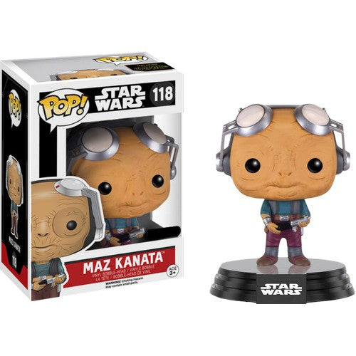 Star Wars : The Force Awakens -  Maz Kanata No Goggle #118 Pop Vinyl Funko Exclusive