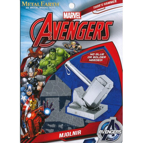 The Avengers - Thor's Hammer Mjolnir Miniature 3D Metal Earth DIY Model Kit