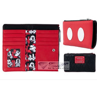 Disney - Mickey Mouse Quilted Faux Leather Flap Wallet Loungefly