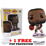 NBA : Lakers - Lebron James in White Uniform #52 Pop Vinyl Funko
