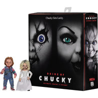 "1:10 7"" Child's Play 2 : Bride of Chucky - Ultimate Chucky and Tiffany Action Figure 2 Pack Set NECA"