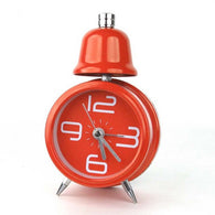 Single Bell Alarm Clock, Red
