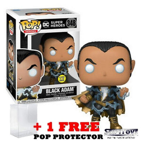 DC Comics - Black Adam with Energy Glow in the Dark #348 Pop Vinyl Funko Exclusive
