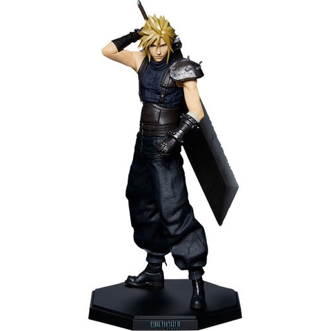 "9"" Final Fantasy VII - Cloud Strife Figure Statue Square Enix"
