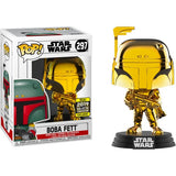 Star Wars - Darth Vader Yoda Leia Chewbacca Boba Fett Stormtrooper Gold Chrome Pop Vinyl Funko 2019 Galactic Convention Exclusive Single / Bundle Set of 6