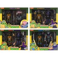 1/10 Teenage Mutant Ninja Turtles - Cartoon Turtles vs Villains Figure 2 Pack Set NECA