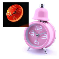 Single Bell Alarm Clock, Pink