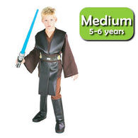 Star Wars : Revenge of the Sith - Anakin Skywalker Deluxe Child Cosplay Costume Size M Rubies