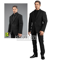 1:6 Male Custom Parts - Tony Stark Men Black Casual Suit Outfit 2.0
