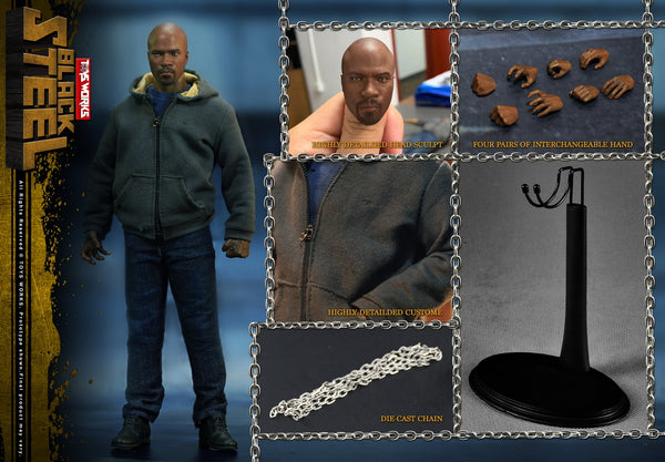 1:6 Black Steel A.K.A Luke Cage Male Custom Figure