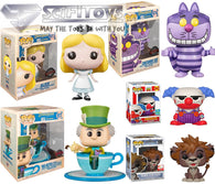Disney Mix Bundle - Alice Cheshire Cat Mad Hatter Sora Lion Form Chuckles Pop Vinyl Figure Funko Exclusive