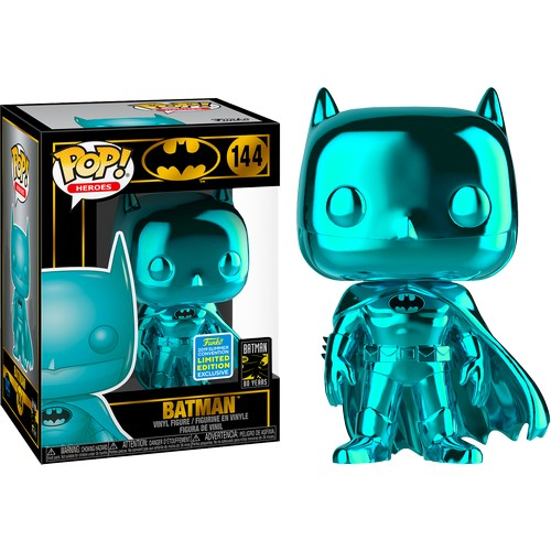 Batman Teal Chrome #144 Pop Vinyl Funko SDCC 2019 Exclusive