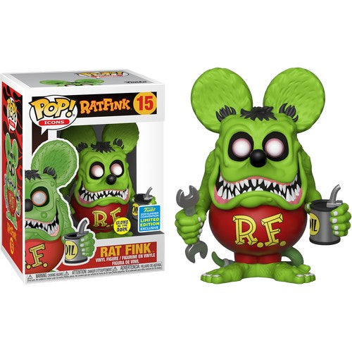 Rat Fink Glow in the Dark #15 Pop Vinyl Funko SDCC 2019 Exclusive