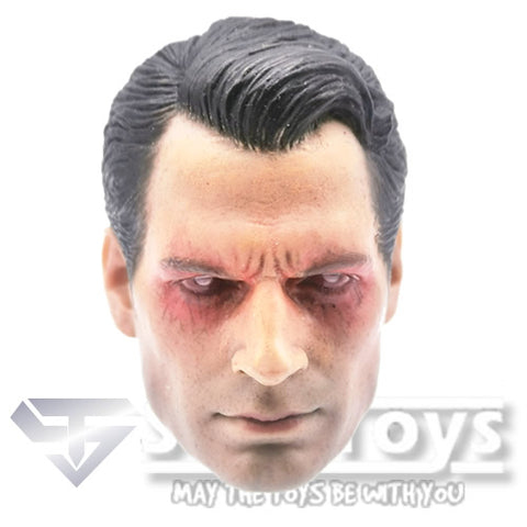 1:6 Man of Steel Superman / Henry Cavill with laser eyes Ver.01 Custom Male custom Head Sculpt Only