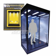1:6 Figure Clear Display Case / Box with USB Powered LEDs & Mirror