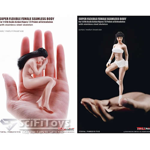 1:12 Super Flexible Steel FEMALE Seamless Body for Custom Figure TB league Phicen (with Headsculpt)