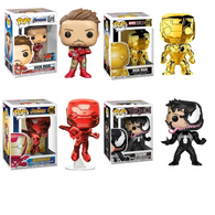 Marvel Bundle 2 - Venom Iron Man Red Gold Chrome NYCC 2019 Pop vinyl Funko Exclusive