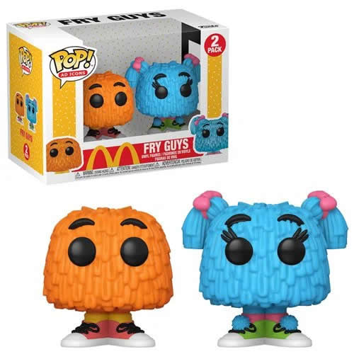 Mcdonald's - Fry Guys Orange and Blue Pop Vinyl Figure 2-Pack Funko
