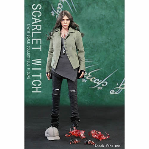 1:6 Marvel Avengers - Scarlet Witch Wanda Maximoff Sneak Stealth Version Female Custom Figure