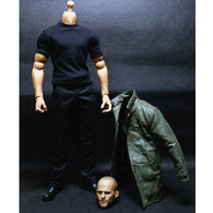 1:6 Fast and Furious - Jason Statham Male Custom Figure Set Wolfking (Outfit and Headsculpt Only)