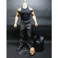 1:6 Fast and Furious - Dwayne Johnson Male Custom Figure Set Wolfking (Outfit and Headsculpt Only)