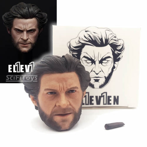 1:6 Wolverine - Hugh Jackman Logan Custom Male Head Sculpt with Cigar Eleven