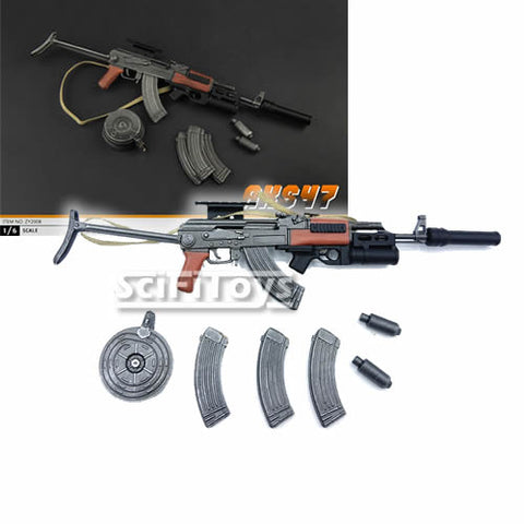 1:6 Weapon - Folding Care AKS47 Assault Rifle Zytoys