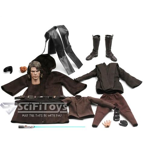 1:6 Star Wars 3 : Revenge of the Sith - Anakin Skywalker Male Custom Figure Set (Outfit and Headsculpt Only)