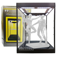 1:6 Figure Clear Rotating Display Case / Box with USB Powered LEDs & Turntable