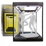 1:6 Clear Rotating  figure Display Case / Box with USB Powered LEDs (Black)