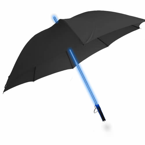 Blue Led Umbrella: LED Light Up Lightsaber Style Umbrella + Torch (BLUE