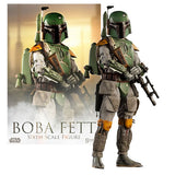 1:6 Star Wars Scum and Villainy : BOBA FETT with light up base figure sideshow