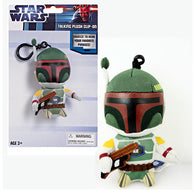 "4"" 10cm Star Wars - Boba Fett Clip-On Talking Key Chain Plush Underground Toys"