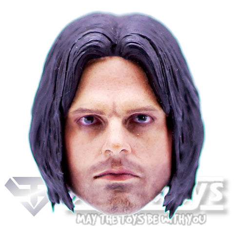 1:6 Winter Soldier - Bucky Sebastian Stan Custom Male Head Sculpt Only